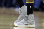 Los Angeles Lakers' Nick Young wears a stylish pair of shoes during an NBA basketball game against the Houston Rockets Saturday, Dec. 12, 2015, in Houston. Young's shoes were all the rage on Twitter.  (AP Photo/Pat Sullivan)