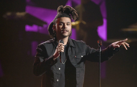 The Weeknd performs at the BET Awards at the Microsoft Theater on Sunday, June 28, 2015, in Los Angeles. (Photo by Chris Pizzello/Invision/AP)