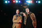 "FILE - In this Nov. 20, 2012 file photo, American musician Ben Haggerty, better known by his stage name Macklemore (R), and his producer Ryan Lewis pose for a portrait at Irving Plaza in New York.  Macklemore & Ryan Lewis feat. Wanz, ""Thrift Shop"" (Macklemore) is the number one top streamed track for the United States on Spotify from Monday, Feb. 4, to Sunday, Feb. 10, 2013. (Photo by Carlo Allegri/Invision/AP, File)"